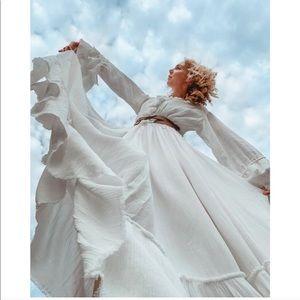 FREE PEOPLE Sweet Darlin Maxi Dress,White